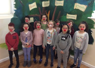Year 4 with their red noses and mad hair.