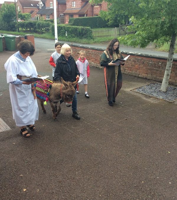 A Donkey Visits Much Marcle School