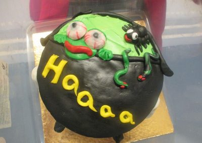 Halloween cake made by Mrs Brown