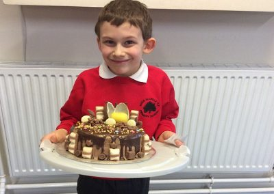 Kinder cake made by Mrs Lewis