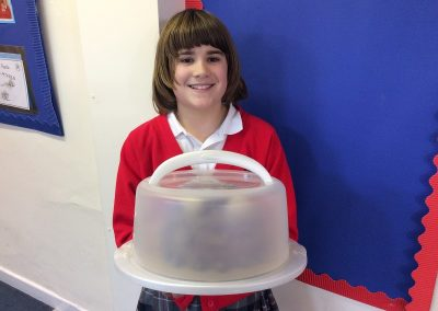 2nd winner with the extreme chocolate cake