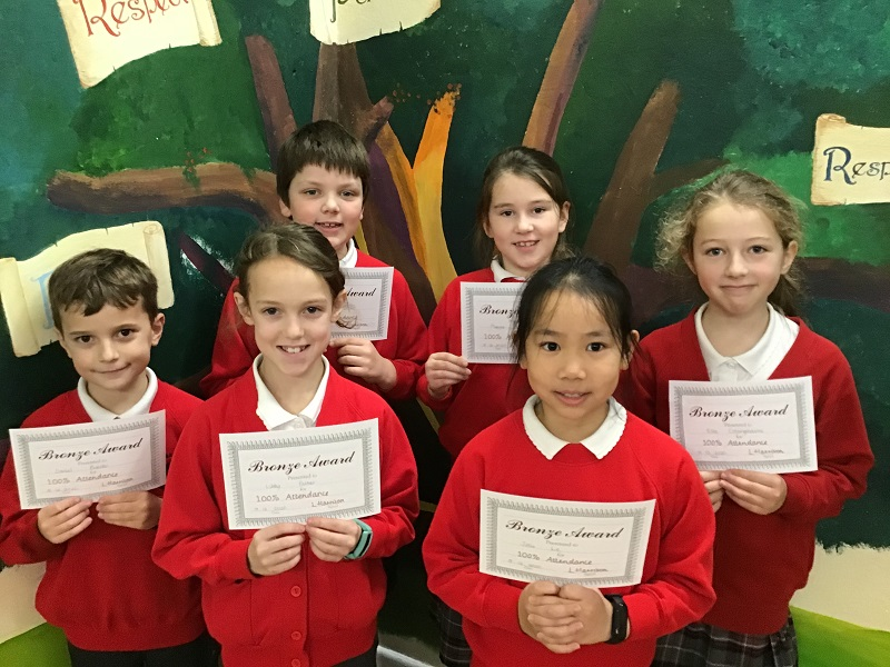 Autumn Term 100% Attendance